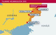 Ukrainan kartta.