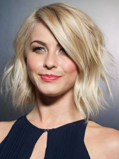 An Asymmetrical Shag. With Julianne Hough's style, you can still keep the softness toward the face, with the longer piece in front that frames it, and then go in and layer heavily everywhere else.