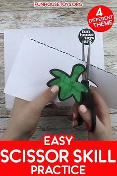 Easy Scissor Skill Practice Sheets