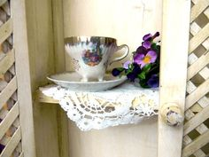 Vintage Tri Footed Teacup Tea Cup and  Saucer - Made in Japan 8272. $15.70, via Etsy.