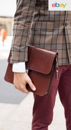 Gentlemen, why settle for mediocrity and a wardrobe full of plain, boring neutrals? Stop playing it safe and bring your own sense of style into your workday, starting with your briefcase! A great leather portfolio speaks volumes as you enter the room. Inspired by NY Fashion Week, find your own style on eBay today.