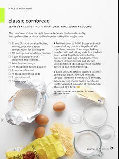 Classic cornbread via Everyday Food