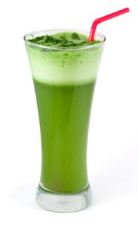 Thyroid Safe Smoothie  (zucchini, cucumber, parsley, cilantro, lemon, ginger, green apple)