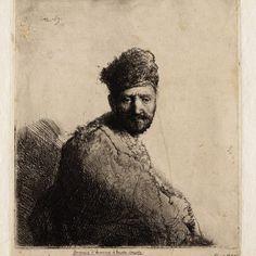 Rembrandt, Man met bontmuts (B 263) , 1631. Teylers Museum