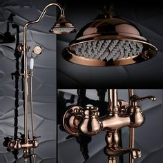 Bathroom Fixtures Alert Bathtub Faucets Luxury Silver Brass Bathroom Rain Handheld Shower Double Handle Ceramics Telephone Type Bath Mixer Tap As Effectively As A Fairy Does Shower Equipment