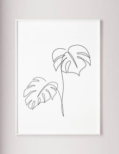 Monstera line art Tropic leaves print Abstract bo&; Monstera line art Tropic leaves print Abstract bo&; Karin Häring decorationhome Monstera line art Tropic leaves print Abstract botanic […] wall art Leaf Prints, Art Prints, Minimal Art, Art Minimaliste, Impressions Botaniques, Plant Wall Decor, Plant Art, Modern Room Decor, Plant Drawing