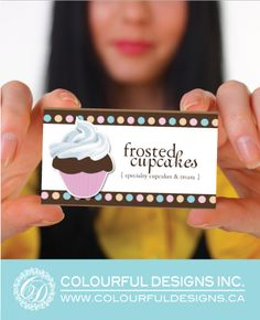 Fully Customizable Cupcake Business Cards designed by Colourful Designs Inc. Copyright 2013 ~1eyeJACK~