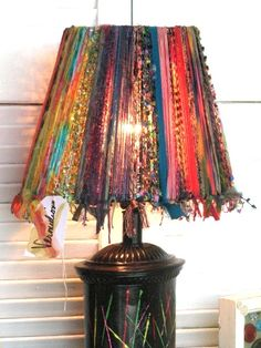 I'm finally open. Not completely finished moving my studio in, but the majority of the front/store is stocked and ready to go. Gypsy Decor, Bohemian Decor, Lamp Shade Crafts, Hippie Crafts, Gypsy Curtains, Deco Originale, Bohemian Living, Boho Diy, Lampshades