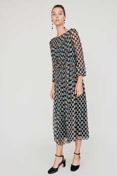 3f5d6a4d636 Image of No.6 Isadora Chiffon Dress in Black Broken Tile Silk Chiffon