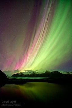 Aurora boreal en Islandia (foto de Daniel López)
