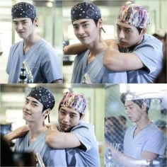 SBS recently released behind the scene photos from the drama series Doctor Stranger. The BTS photos showed the two main stars, Lee Jong Suk and Park Hae Jin having a good time together. Park Hye Jin, Park Jin Woo, Lee Jong Suk Cute, Lee Jung Suk, Asian Actors, Korean Actors, Korean Dramas, Lee Jong Suk Doctor Stranger, Ver Drama