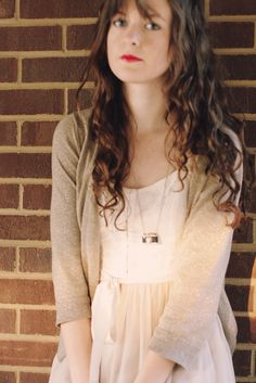 ashlyn from blog triple thread wears our camera charm necklace oh so well fossil
