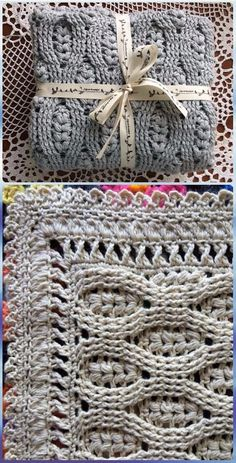 Crochet Wheat Stitch Baby Blanket Pattern - Crochet Wheat Stitch Free Patterns [Video] Love the edging! Motifs Afghans, Crochet Afghans, Crochet Motifs, Crochet Stitches Patterns, Baby Blanket Crochet, Knitting Patterns, Crochet Blankets, Knit Blanket Patterns, Crochet Mandala