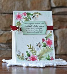 Beautiful Holiday Season Card by Amy Sheffer for Papertrey Ink (October 2015)