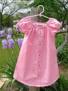 DIY Transformations Of Men's Shirts To Cute Dresses
