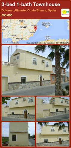 3-bed 1-bath Townhouse for Sale in Dolores, Alicante, Costa Blanca, Spain ►€95,000