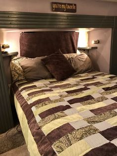 Quilt for the RV - RV Makeover Bedroom