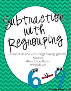 Subtraction with regrouping: 3 activities! Teaching Subtraction, Back To School, School Stuff, Homeschool Math, 2nd Grade Math, Teaching Strategies, Teacher Hacks, Math Centers, Activities