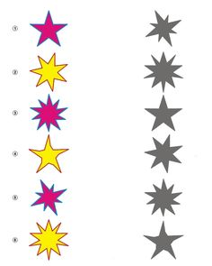 Kids Activity -Match the shadow of stars, Black & white Picture Winter Activities, Kindergarten Activities, Activities For Kids, Preschool, Shadow Pictures, Hidden Pictures, Folder Games, Animal Coloring Pages, Early Education
