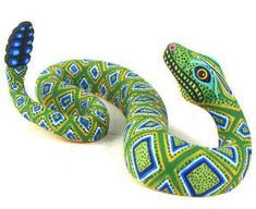 Luis Pablo Snake Oaxacan Wood Carving