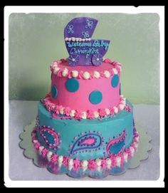 Paisley babyshower cake