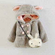 Abrigo conejo en polar soft