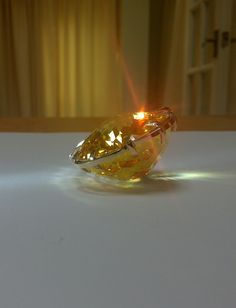 """1200 carat golden Vedic Crystal. Largest jyotish gem made to date. The gem is approx. 3"""" in diameter."""