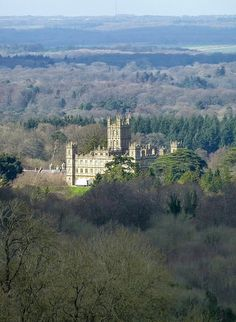 Highclere Castle, Berkshire, England aka now known as Downton Abby