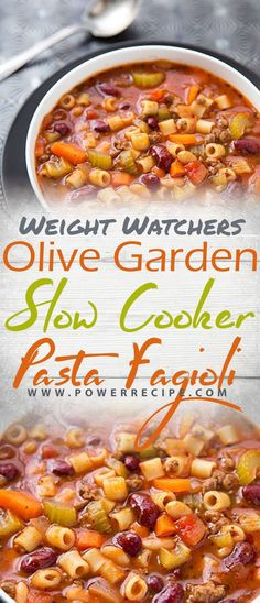 Olive garden slow cooker pasta fagioli recipe all about your power recipes slow cooker pasta e fagioli Pasta Fagioli Recipe Slow Cooker, Pasta E Fagioli Soup, Slow Cooker Pasta, Slow Cooker Recipes, Olive Garden Pasta Fagioli, Pasta Soup, Crockpot Meals, Olive Garden Soups, Olive Garden Recipes