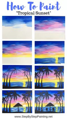 How To Paint A Palm Tree Sunset - Painting Ideas How To Paint Tropical Sunset – Step By Step Painting 40 Simple and Easy Landscape Painting IdeasAbstract Art, Cloud Painting Print , Cloud Print ,…Original Oil Painting Modern Large Wall Art Decor… Cute Canvas Paintings, Canvas Painting Tutorials, Easy Canvas Art, Mini Canvas Art, Easy Canvas Painting, Simple Acrylic Paintings, Painting Art, How To Paint Canvas, Sunset Painting Easy