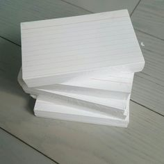 Set of 5 new index cards Set of 5 packs of new index cards Other