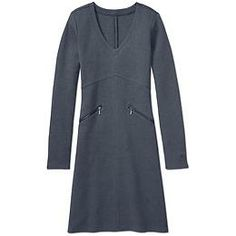 Celebration Dress - The ultimate travel fabric gives you a streamlined look in this flattering V-neck sweater dress.