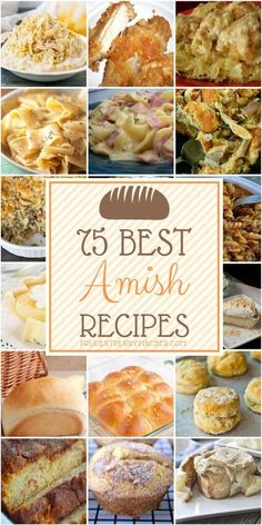 75 Best Amish Recipes 75 Best Amish Recipes 75 Best Amish Recipes From breakfast and dinner to side dishes and desserts, there are nearly a hundred delicious amish recipes to choose from. Amish Pie, Amish Bread, Best Amish Recipes, Favorite Recipes, Popular Recipes, Pennsylvania Dutch Recipes, Restaurant Recipes, Recipes Dinner, Good Food