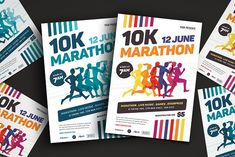 Marathon Event Flyer Template by VectorVactory on @creativemarket
