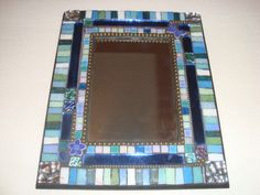 MOSAIC MIRROR, Accent Mirror, Shades of Blue and Green, Butterfly, Flower by victoriacharlotte on Etsy https://www.etsy.com/listing/262400132/mosaic-mirror-accent-mirror-shades-of