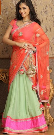 Pretty Pastel Lehenga for Mehendi