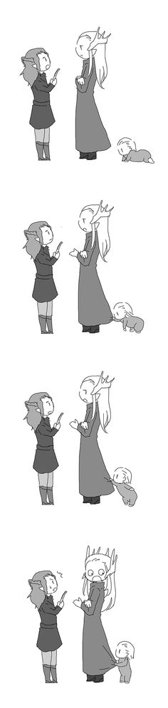 Thranduil and Legolas <-- there are more of these and all of them are absolutely adorable