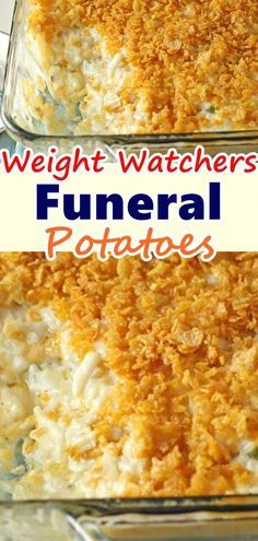 Weight Watchers Funeral Potatoes - New Site Weight Watcher Dinners, Weight Watchers Sides, Plats Weight Watchers, Weight Watchers Meal Plans, Weight Watcher Crockpot Recipes, Weight Watchers Recipes With Smartpoints, Weight Watchers Appetizers, Skinny Recipes, Ww Recipes