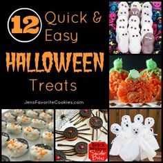 12 Easy Halloween Treats | Jen's Favorite Cookies