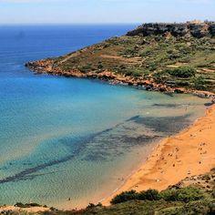 Ramla Bay, the red beach of Gozo, Malta