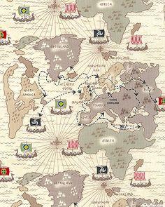 Timeless Treasures Viking Travel Map by Karen Roehl Viking Life, Viking Art, Ancient Vikings, Norse Vikings, European History, Ancient History, Norwegian Vikings, Viking Culture, Old Maps