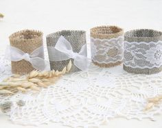 SET OF 50 Burlap Silverware Holders by FriendlyEvents on Etsy                                                                                                                                                      More