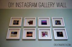 DIY Instagram Gallery wall - Creating Krista