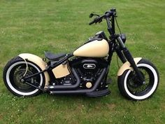 custom harley softail slim | Details zu Harley Davidson; FLS Softail Slim; BOPPER Custom Umbau