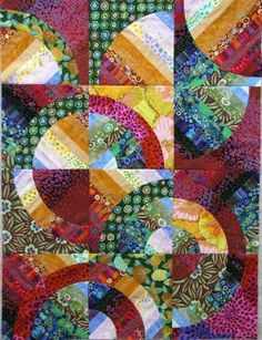 Wanda S Hanson @ Exuberant Color - Strips and Curves