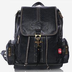 2015 new Famous Brand Desigual Women Leather Backpack Women travel bags  vintage Shoulder Bag Motorcycle Bag 2cca317a134