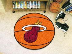 "NBA - Miami Heat Basketball Mat 27"" diameter"
