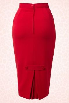 Häschen - Joni Rock in Rot - Patterns - Best Skirt Skirt Outfits, Dress Skirt, Cute Outfits, Style Board, Vintage Outfits, Vintage Fashion, High Waisted Pencil Skirt, Pencil Skirts, Pencil Dresses