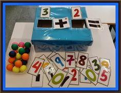 Learn how to add with a box Preschool Color Activities, Kindergarten Math Activities, Preschool Education, Preschool Math, Teaching Math, Learning Activities, Kids Learning, Lego Math, Maths