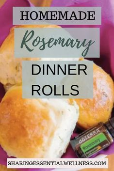These homemade rosemary dinner rolls are delicious and so easy to make! This simple recipe is a perfect addition for a weeknight dinner or your holiday table. Infused with rosemary essential oils, they make for an extra special holiday recipe. #holidaybaking #holidayrecipe #healthyrecipes #cookingwithessentialoils #rosemaryessentialoil #dinnerrollrecipe #breadrecipes #familyfriendlyrecipes #doterra